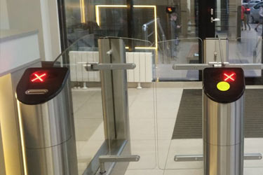 Turnstile Praktika T-04 in the business center Rumyantsevo Moscow city, Russia